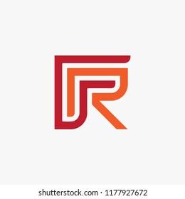 FR logo vector, icon FR, alphabet logo vector