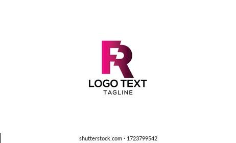 FR R Letter Logo Design Template Vector