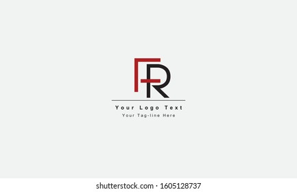 FR or RF letter logo. Unique attractive creative modern initial FR RF F R initial based letter icon logo
