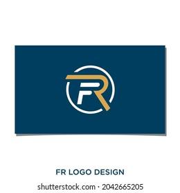 FR OR RF LOGO DESIGN VECTOR