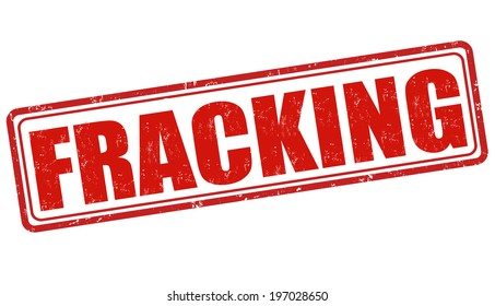 Fracking grunge rubber stamp on white, vector illustration