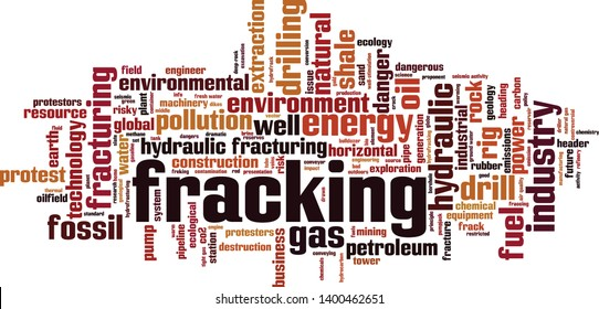 Fracking word cloud concept. Collage made of words about fracking. Vector illustration