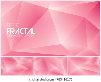 Fractal abstract background vector series. Suitable for your design element and background