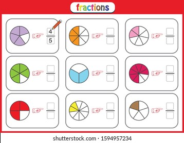 fractions mathematics worksheet for students