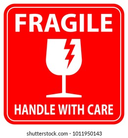 graphic relating to Fragile Glass Labels Printable named Sensitive Pics, Inventory Photographs Vectors Shutterstock