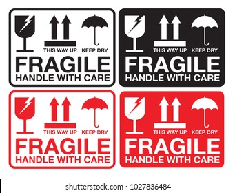 image about Printable Fragile Label titled Sensitive Illustrations or photos, Inventory Shots Vectors Shutterstock