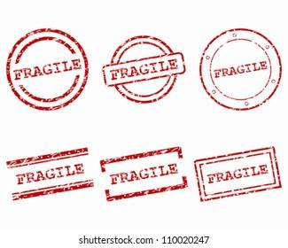 Fragile stamps