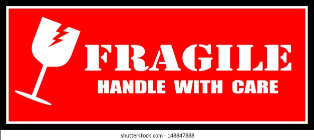 Fragile Sticker Images Stock Photos Amp Vectors Shutterstock