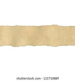 Fragmentary Old Vintage Paper Borders, Vector Illustration