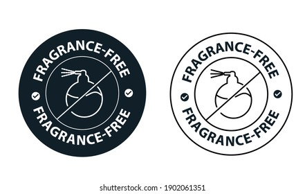 fragrance free vector icon. product package instruction icon
