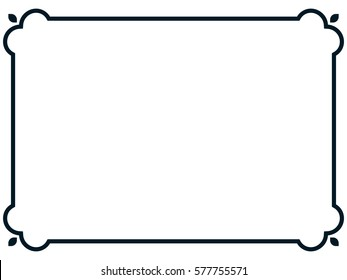 Frame banner vector border isolated beautiful line