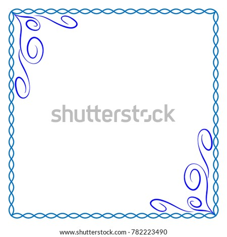 Frame Blue Colorful Framework Isolated On Stock Vector (Royalty Free ...