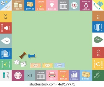 Frame of board game ,Funny frame,Board games,Vector illustrations