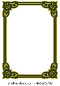 Frame border beautiful vector vintage isolated