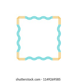Frame border line page vector simple. Modern vector frame minimalism. The frame is made of thin colored lines