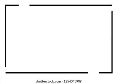 Frame border line page vector