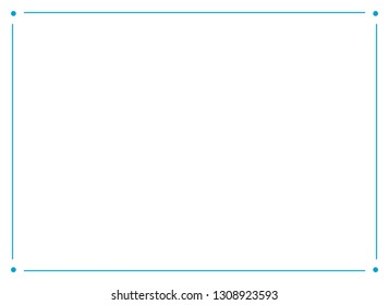 Frame border line page vector vintage simple horizontal blue