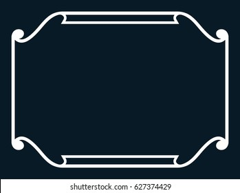 Frame border line page vector horizontal