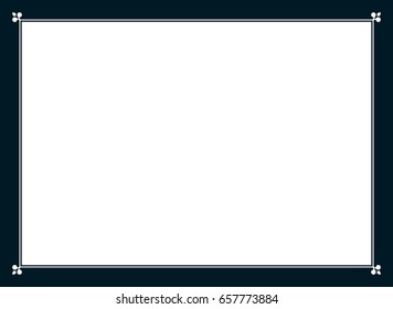 Frame border line page vector simple banner