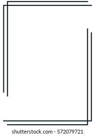 Frame border vector