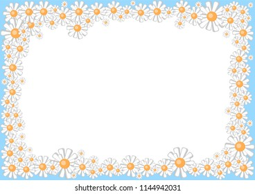 frame from cartoon daisies, for photos, announcements, presentations