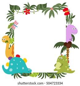 dinosaur frame images stock photos vectors shutterstock