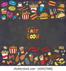 Chalkboard+menu+burger Images, Stock Photos & Vectors