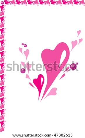 Frame Consisting Hearts Pinkred Range Stock Vector (Royalty Free ...