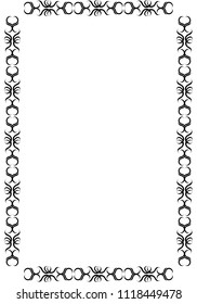 Frame of curved branches. Vector.