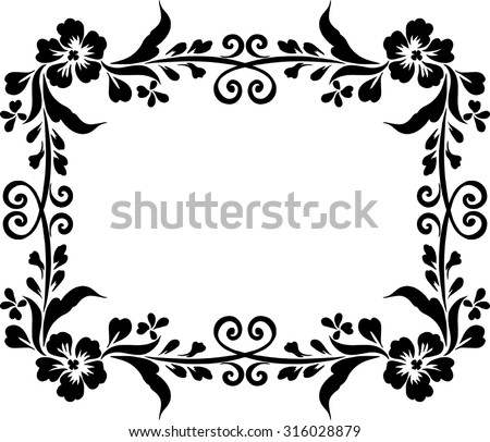 Frame Design Black Background Draw Lines Stock Vector Royalty Free