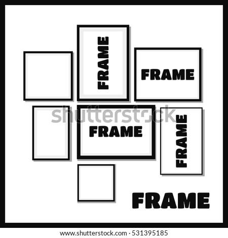 Frame Design Frame Picture Many Frames Stock Vector (Royalty Free ...