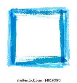 Frame for design of textured brush strokes paint on paper