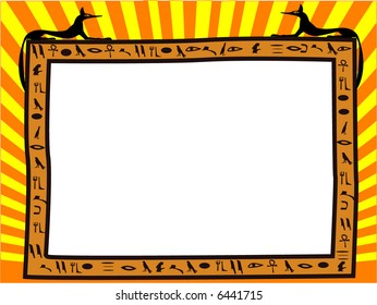 Frame in the Egyptian style - a vector