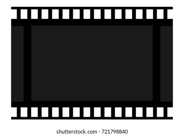 frame film. blank cadre. Icon celluloid. Sign of cinemeography and photographs. Symbol cinema