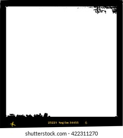 frame of film, grungy photo frame,with free copy space,vector,