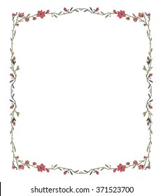 Flowers Frames Images, Stock Photos & Vectors | Shutterstock