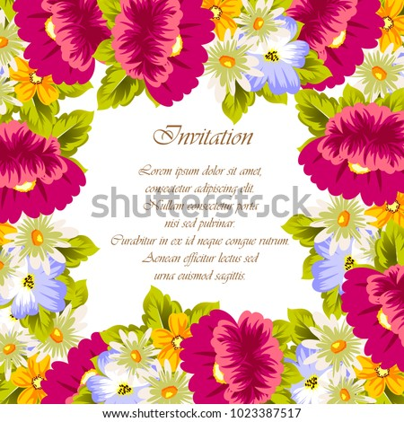 Frame flowers card designs greeting cards stock vector royalty free frame of flowers for card designs greeting cards birthday invitations valentines day m4hsunfo
