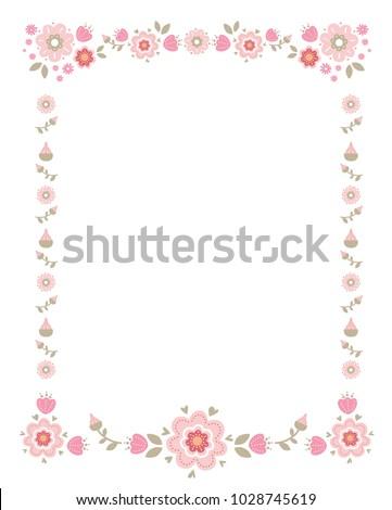frame flowers invitations seasonal greetings wedding stock vector