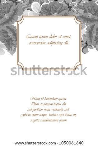 Frame Flowers Your Design Cards Greeting Stock Vector Royalty Free