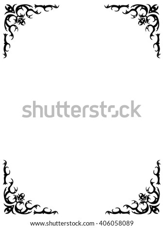 Frame Four Angles Photo Holders Stock Vector (Royalty Free ...