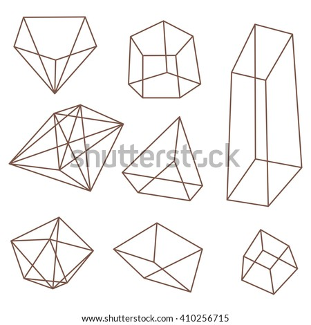 Frame Geometric Shapes Set Pyramids Cubes Stock Vector (Royalty Free ...