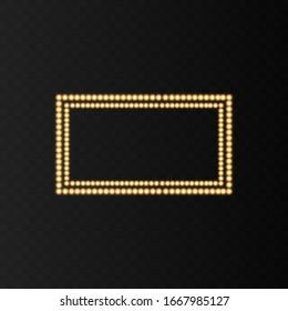 Frame. Glowing frame. Golden light. Gold. Golden frame. Gradient used. The illustration is drawn on a flying background.