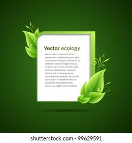 Frame green leaf ecology concepts. vector illustration