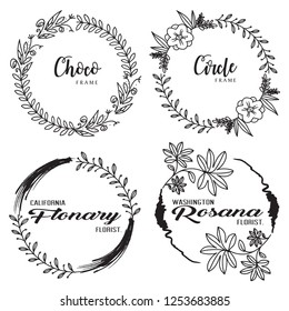 Frame Hand Drawn Flower Template