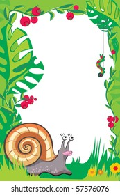 frame with helix for children photo