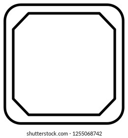 frame Icon black isolated vector