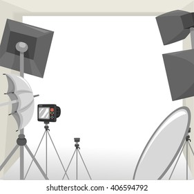 Frame Illustration Featuring Equipment Commonly Used During Photo Shoots