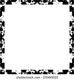 Frame of ink splashes and stains. Abstract background. Vector.