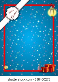 Frame for invitations. Postcard or invitation to the Christmas and New Year holidays