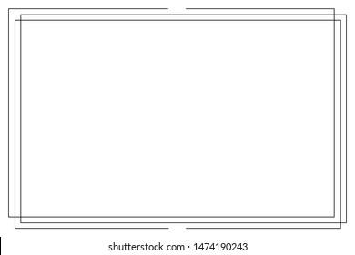 Frame isolated vector Icon.White background. Vintage frame